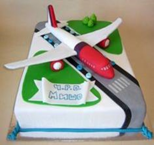 Airline And Birthday Cake