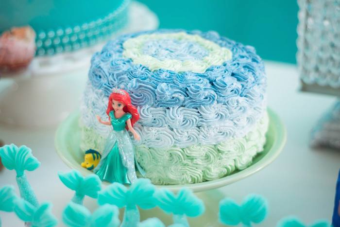 mermaid party cake