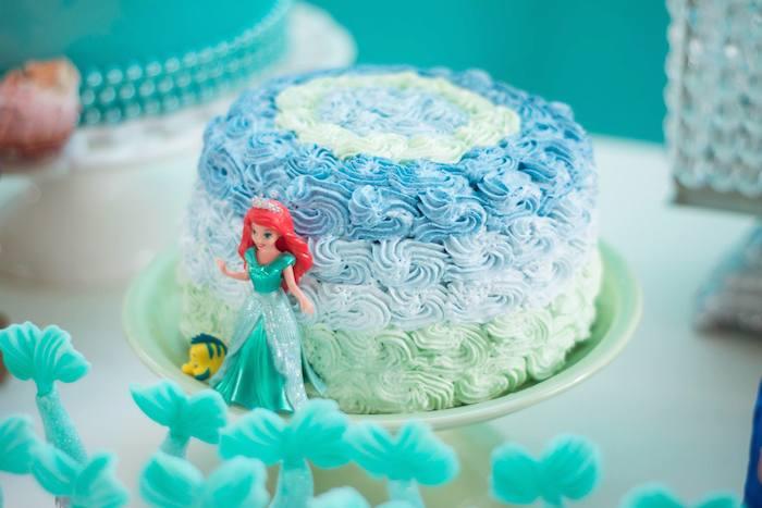 mermaid party cake