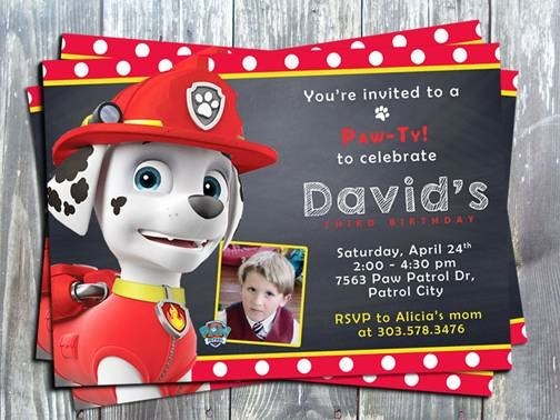 Paw Patrol Special Invitations