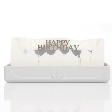 Melting Messages 18th Birthday Candle