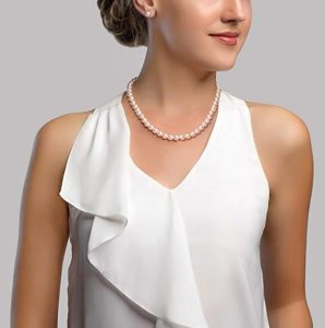 This Is White Freshwater Cultured Pearl Necklace Which A Perfect Gift For Girl Turning 18 Made From Quality Pearls Available In