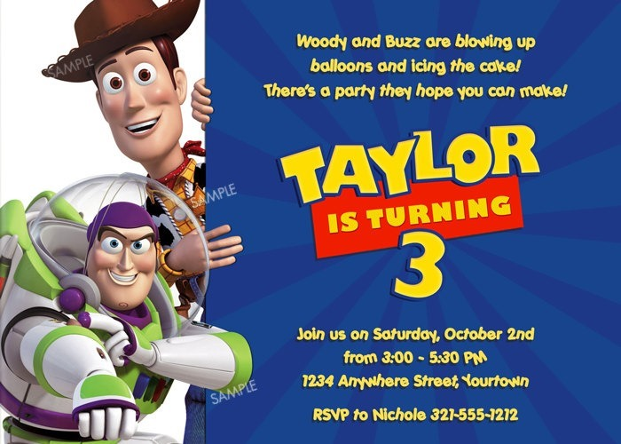 Toy Story Invitation