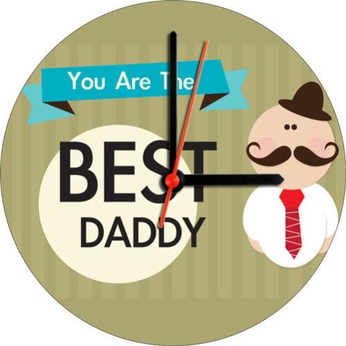 Best Daddy Canvas Wall Clock