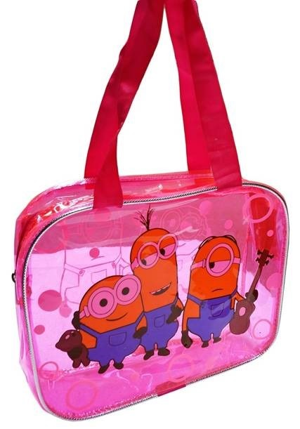 Minion Design Transparent Hand Bags