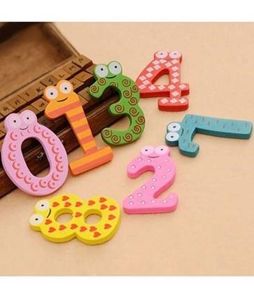 Kuhu Creations Wooden Alphabet Cartoon Magnets