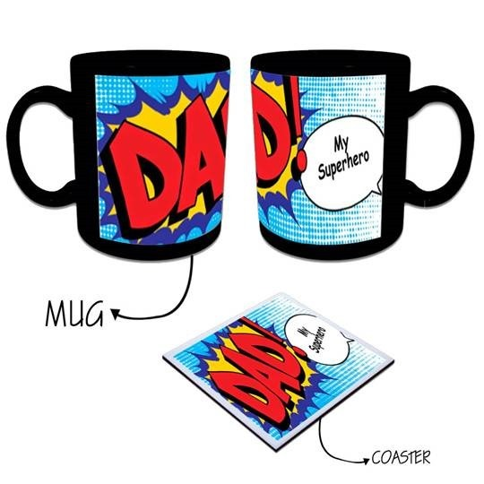 Personalized Super Dad Mugs