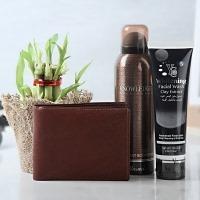 Wallet Facial Wash Deo and Bamboo Plant Combo