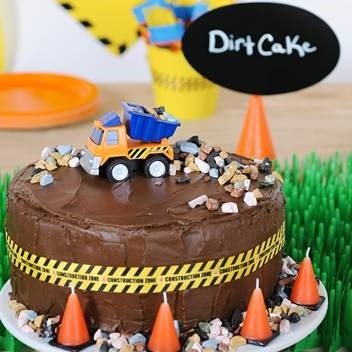 The Dirty Construction Birthday Theme Cake