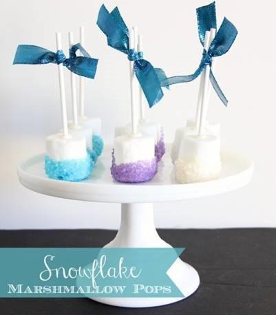 Marshmallow Snowflake Pops