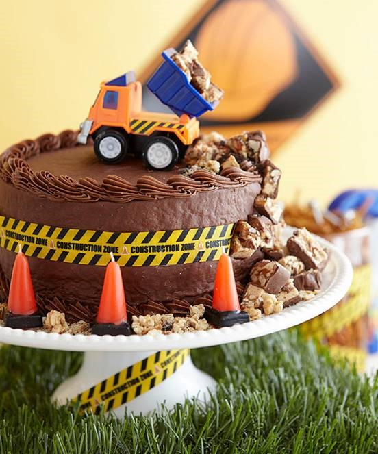 Candy Bars Construction Theme Cake