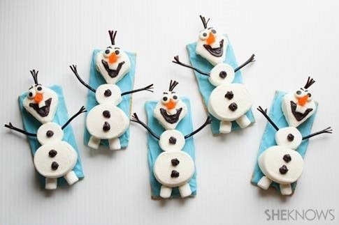Snowman Olaf Cookies Snack