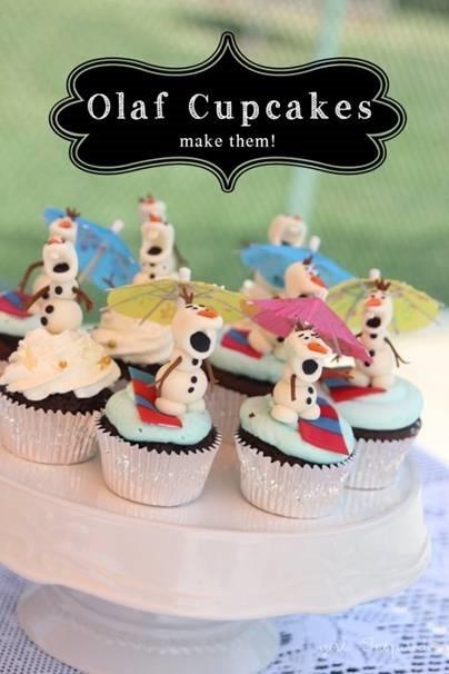Olaf Cup Cakes