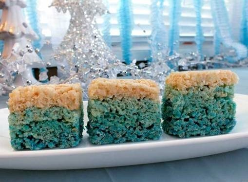 Ombre Krispie Rice Treats