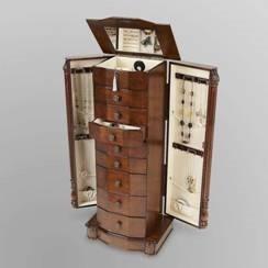 Louis XVI Armoire Antique Exquisite Jewelry