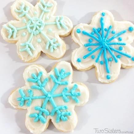 Disney Snowflake Frozen Cookies