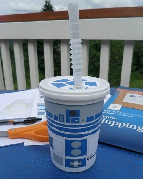 Star Wars Themed Droid Cup Birthday Party