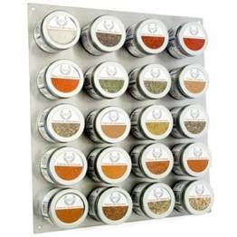 Gustus Spicy Gourmet Seasons Vitae Condiment and Spice Rack