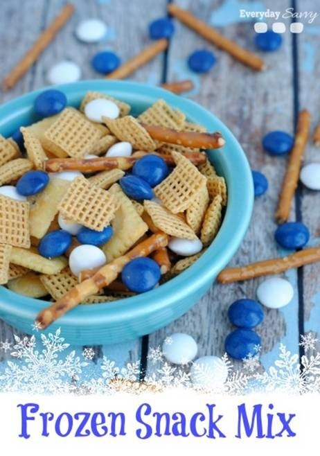 Frozen Birthday Party Snack Mix