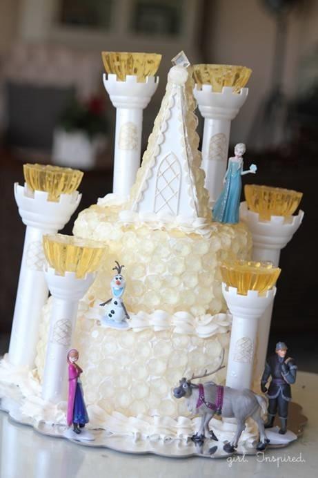 Frozen Birthday Ice Castle Cake Ideas