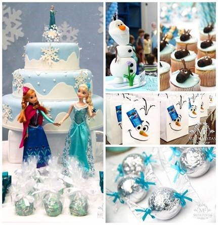 Frozen Themed Birthday Party by Adriana Somma
