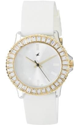 Fast track white dial watch