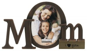 Malden International Designs Bronze Script Mom Picture Frame