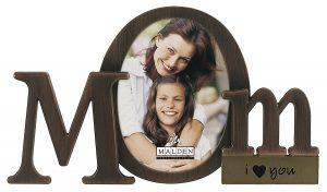 gifts-for-mom-Malden International Designs Bronze Script Mom Picture Frame