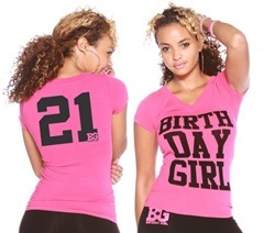 Get This Cool T Shirt For Her Birthday She Will Definitely Love To Printed With Girl On The Front Side And 21