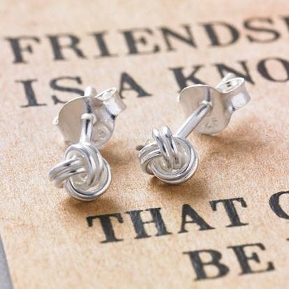 Friendship knot earrings