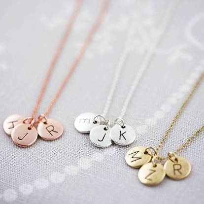 Letters necklace and chain