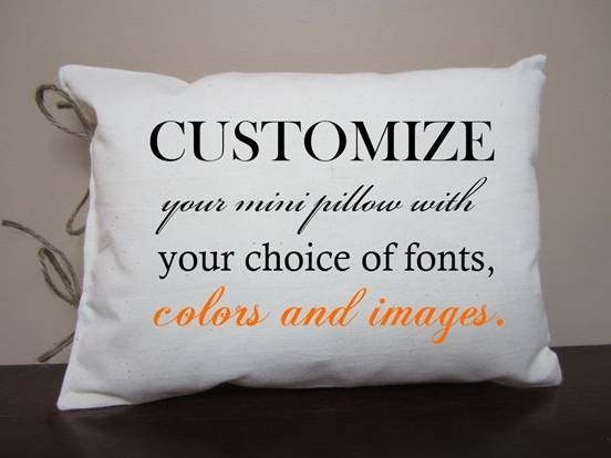 Customized pillows and cushions