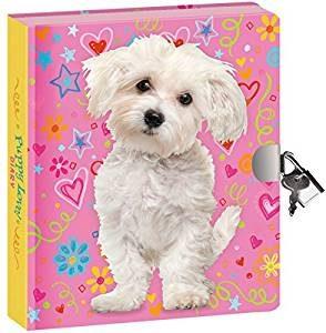 Peaceable Kingdom Puppy Love Lock and Key Diary