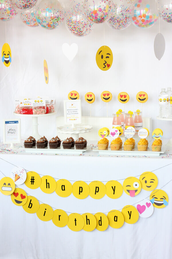 For Example Poop Shaped Cupcakes Smiley Face Candies And Emoji Clad Stirrers Other Things Using Your Imagination A Nicely Decorated Birthday Cake