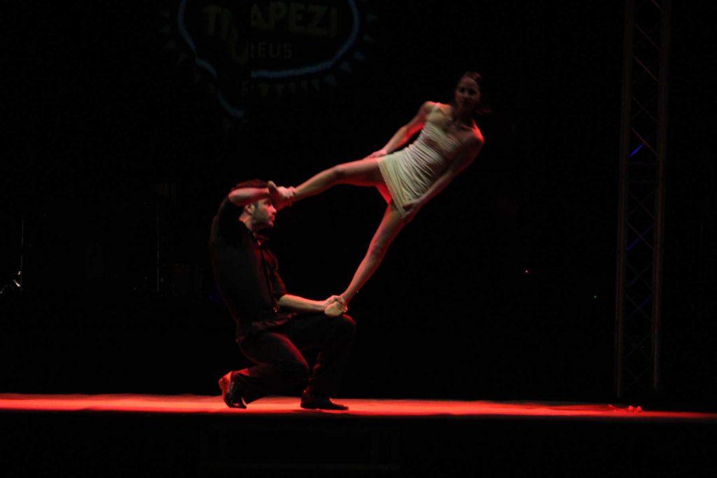 A trapeze show