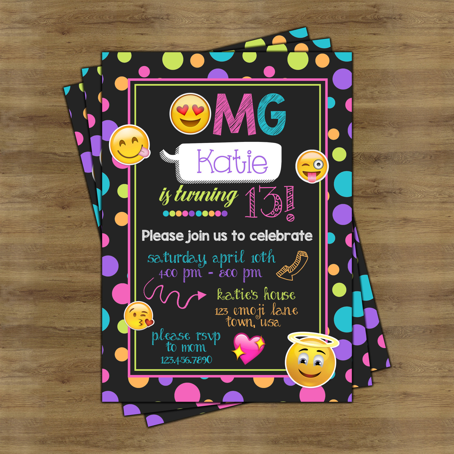 It Will Surely Excite All The Guests And Birthday Person To Fullest Invitations Would Build Up Emoji Themed