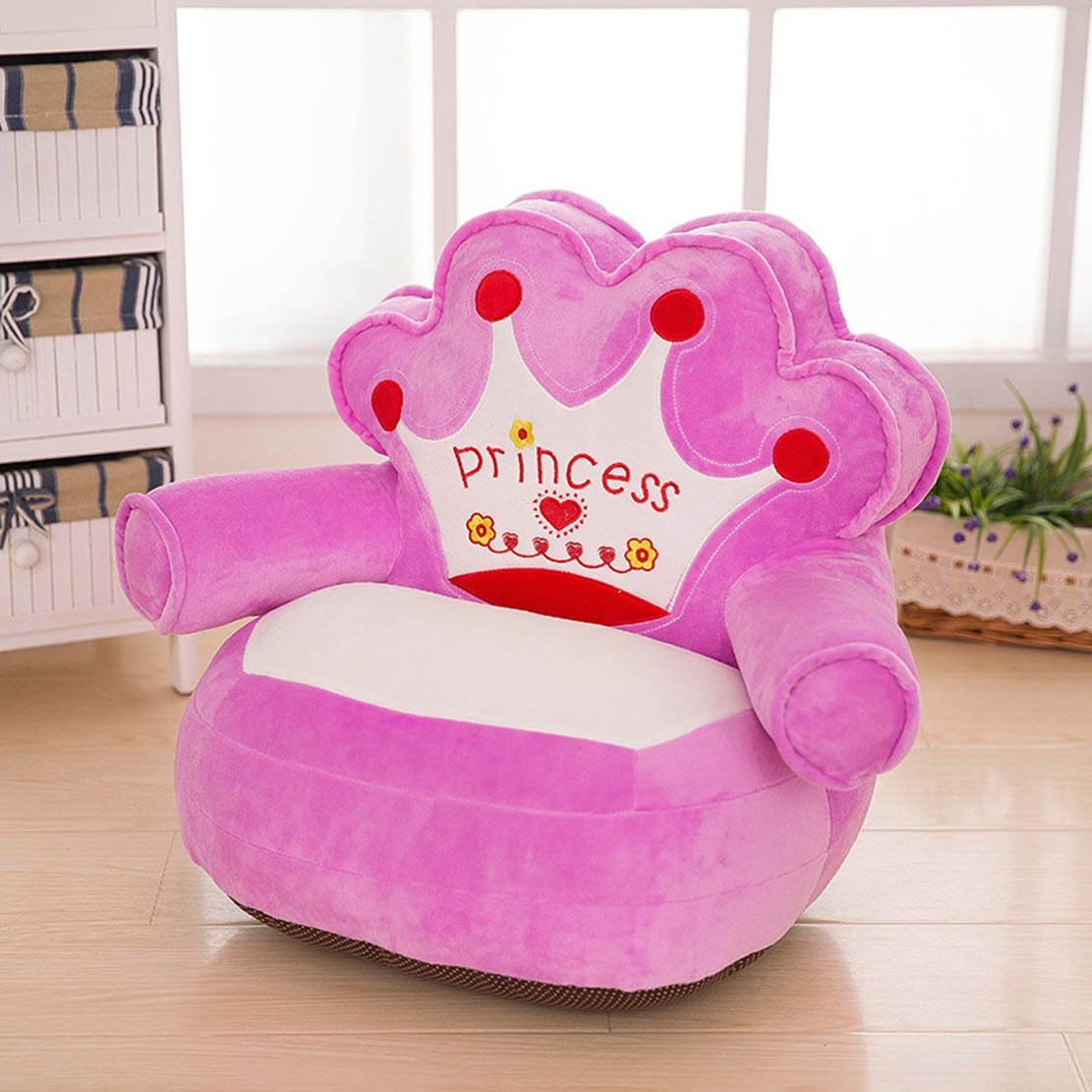 Let The One Year Old Girl Enjoy Courtesy Of Relaxing On To An Ultra Soft Plush Chair It Is Bright Pink In Color And Comes With Princess Written