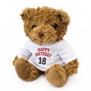 Happy Birthday 18 Teddy Bear