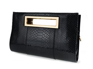 crocodile pattern clutch