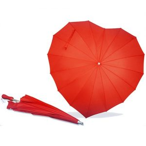 Heart Shaped Red Umbrella