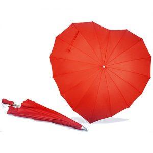 Heart Shaped Red Umbrella