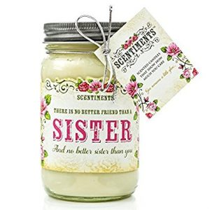 Scented Candle with Customized Sister Jar