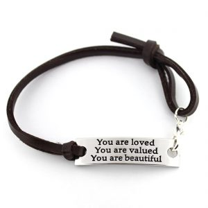 Love, Valued, and Beautiful Wrist Band
