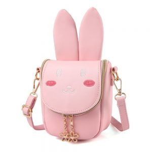 Pinky Super Cute Girls Purse Bunny Ears