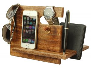 Universal Wooden Phone Docking Station