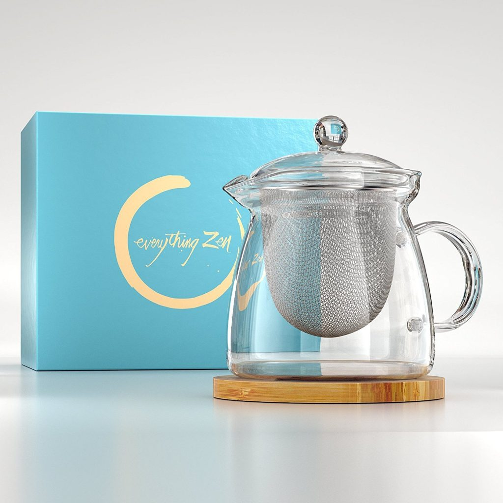 Premium Quality Hand Blown Glass Tea Pot