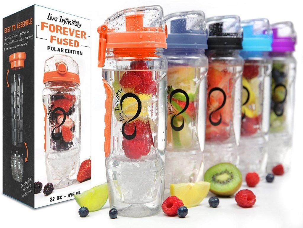 Live Infinitely Fruit Infuser Water Bottles