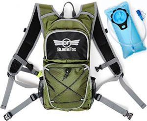 Travel Backpack with 2L Leak Proof Water Bladder