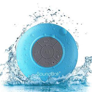 SoundBot Water Resistant Bluetooth Shower Speaker