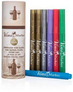 Vino Marker Metallic Wine Glass Pens